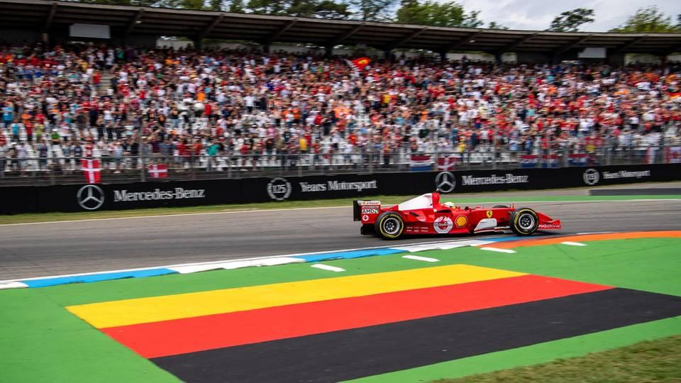 Sport News Mick Schumacher im Ferrari F2004 seines Vaters auf dem Hockenheimring