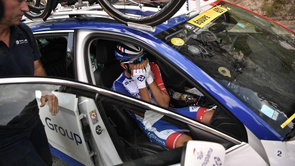 Sport News Thibaut Pinot steigt unter Tränen aus Tour de France aus