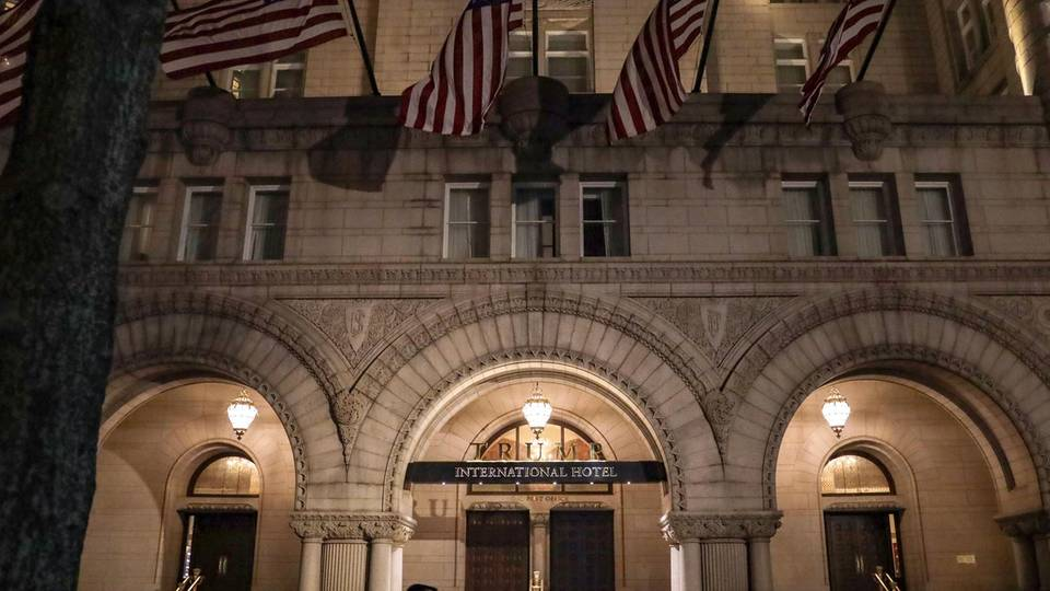 Donald Trump International Hotel in Washington: bei Würdenträgern und Unternehmen beliebt