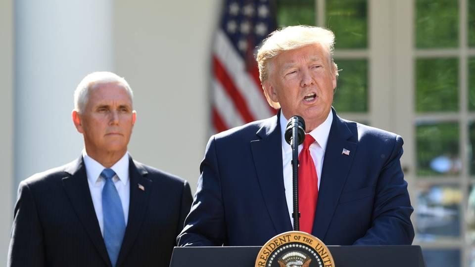 US-Präsident Donald Trump (rechts) und Vizepräsident Mike Pence